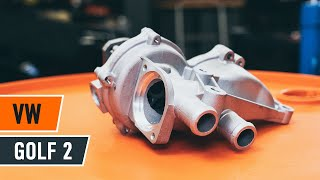 Come sostituire Pompa acqua + kit cinghie dentate VW GOLF II (19E, 1G1) - tutorial