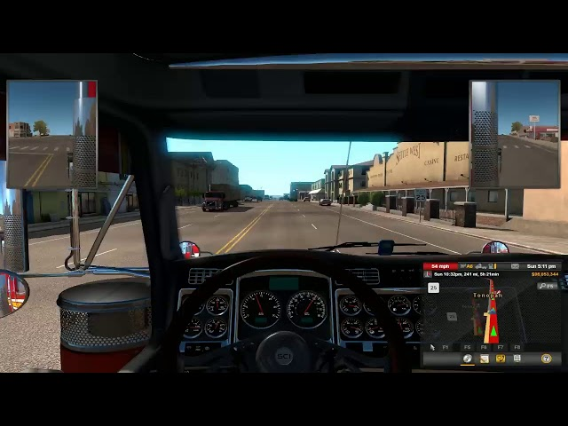American Truck Simulator firs time star on the rood