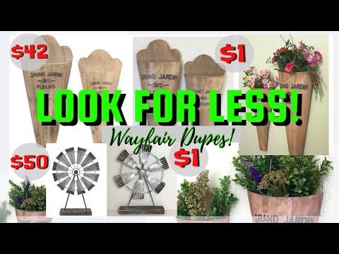 FARMHOUSE HOME DECOR/DOLLAR TREE DIY/LOOK FOR LESS/WAYFAIR DUPES/SUPER CHEAP