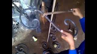 Buat ornamen wrought iron,variasi teralis, bending besi tempa cara manual