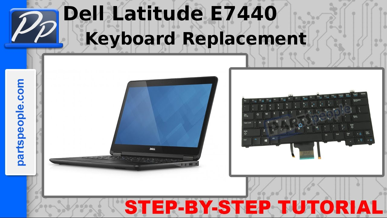 6d9538baab0 Dell Latitude E7440 Top Mouse Buttons & Keyboard Removal and Installation