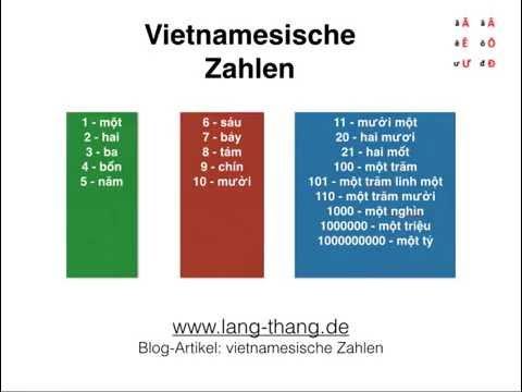 Video 19 Vietnamesische Zahlen Und Deren Aussprache Youtube