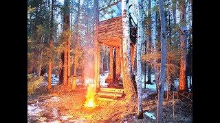 ДОМ НА ДЕРЕВЕ: ФИНАЛ | НОВАЯ КРЫША | МЯСО НА УГЛЯХ | Building Treehouse