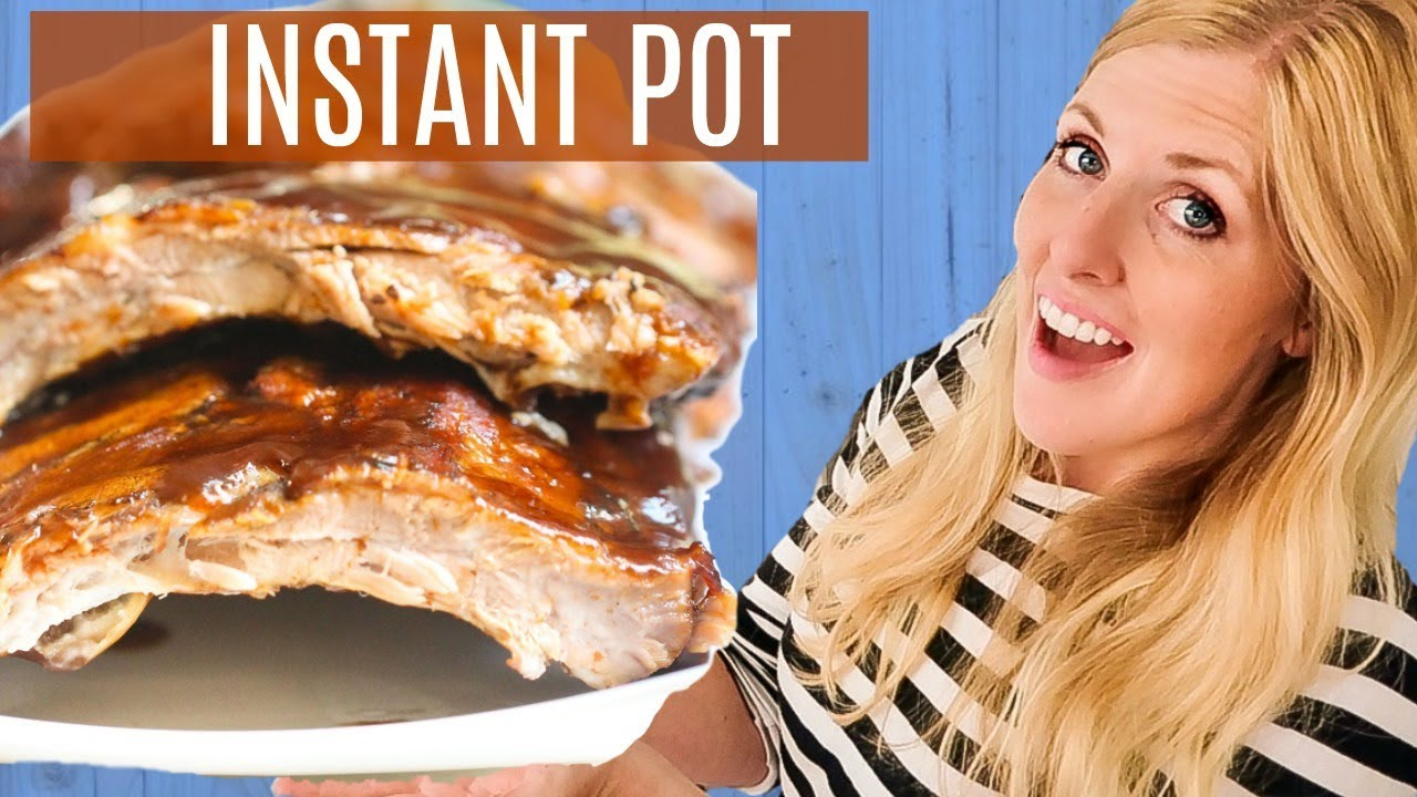 Instant Pot Fall Off the Bone BBQ Ribs - Easy Instant Pot