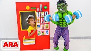 قصة لعبة الأطفال فلاد ونيكيتا عن آلة البيع للأبطال الخارقين
