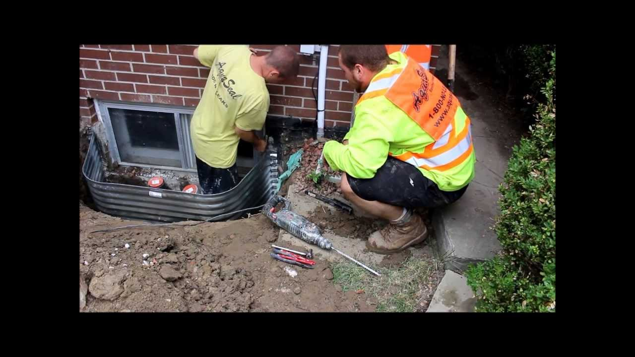 Basement Wells Part - 44: How To Replace Window Well And Drains By Aquaseal 1-888-750-0848 - YouTube