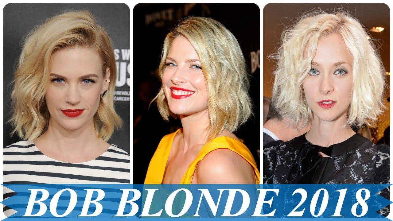 Aktuelle blonde bob frisuren 23