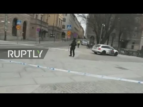 LIVE from Stockholm after vehicle drives into people