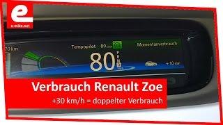 Verbrauch Renault Zoe | Elektroauto Test Reichweite | e-mike.net