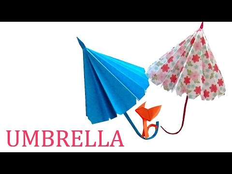 🌂 ⛱ ☔ How to make a Paper Umbrella? Origami Umbrella for Children easily