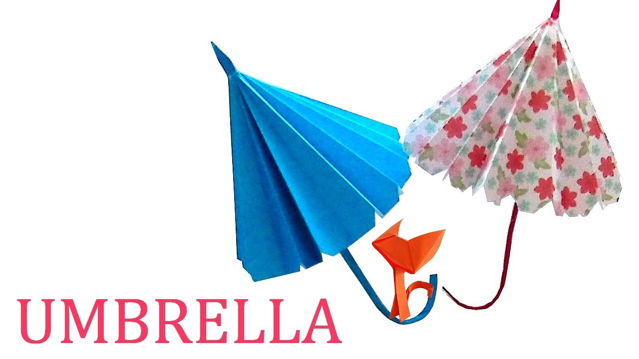 Origami Umbrella For Children Easily