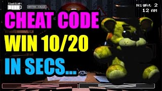 FNAF 2 | CHEAT CODE - Beat 10/20 Mode in Secs - SKIP NIGHTS (NO DOWNLOADS/HACKS/TRAINERS)
