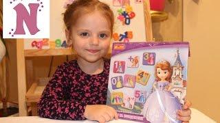 Принцесса София цифры на магнитах учим цифры Disney Princesa Sofia toys