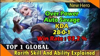 Harith Savage  by Top 1 Global Harith, New Hero Harith Skill and Best Build, mobile legend