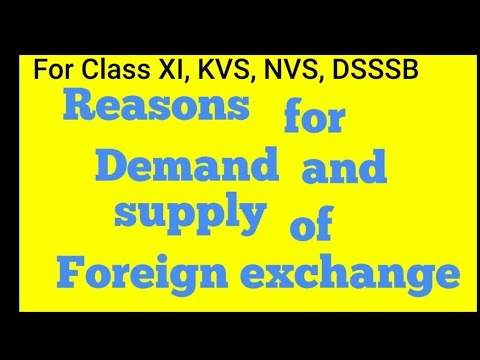 Reasons for demand and supply of foreign exchange