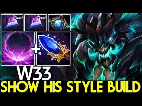 W33 [Outworld Devourer] Show His Style Build One ULT Kill 7.24 Dota 2
