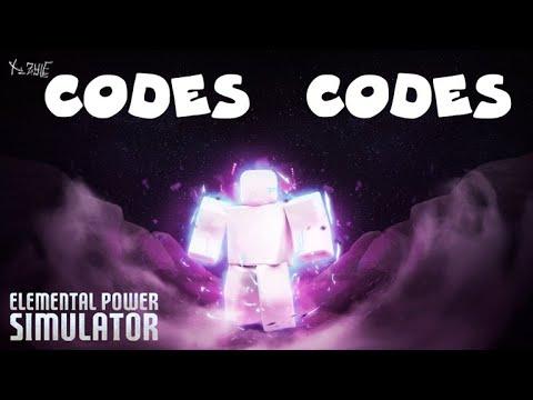 All Working Codes Elemental Power Simulator Code Youtube