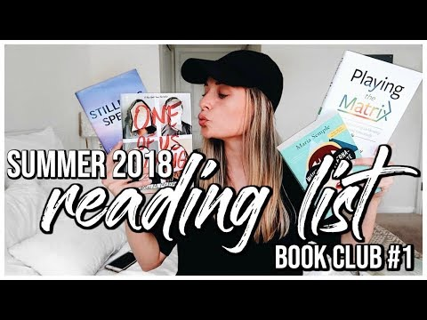 2018 SUMMER READING LIST | 8 Self Help & Fiction Books | BOOK CLUB ANNOUNCEMENT