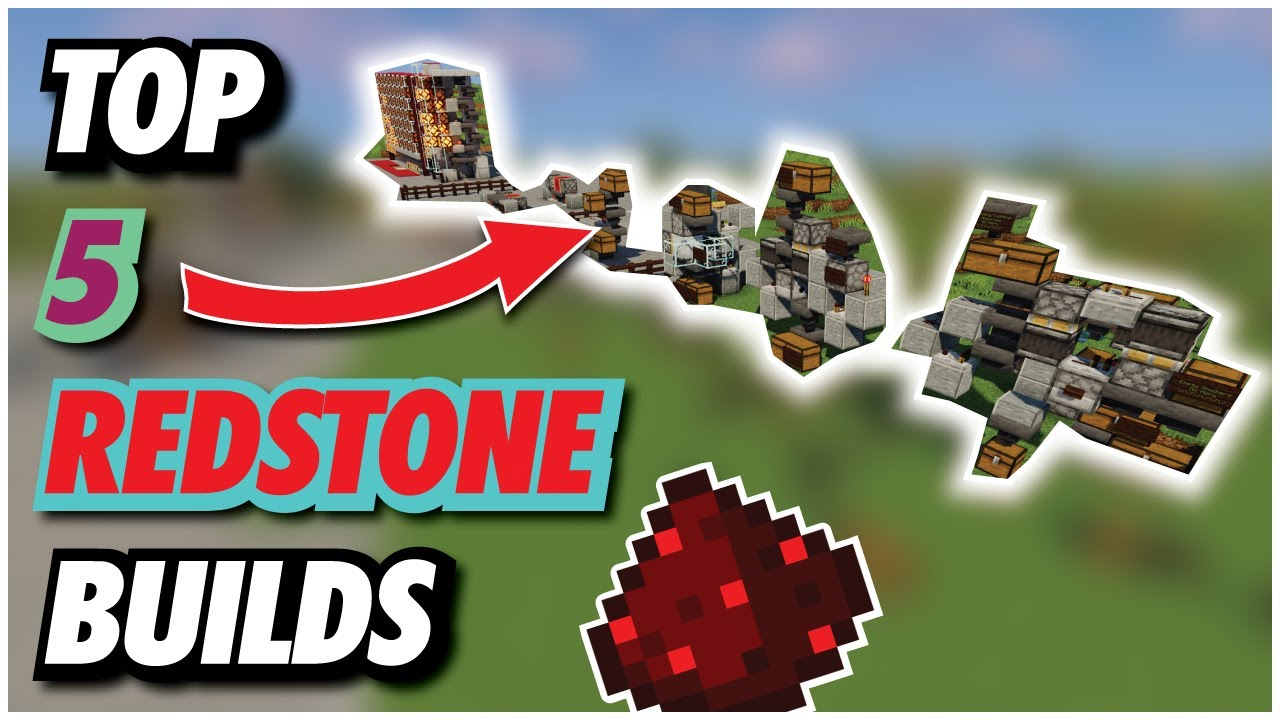 TOP 12 BEST REDSTONE BUILDS  Minecraft Essentials