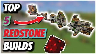 TOP 5 EASY REDSTONE BUILDS For Your Minecraft WORLD