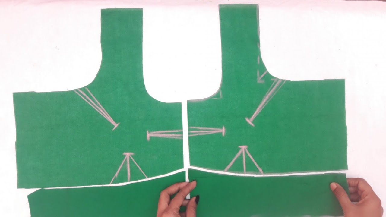 simple blouse cutting and stitching video    blouse stitching video