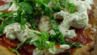 Pizza With Tomatoes, Burrata And Basil