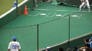 ブルペンでの三井浩二投手 2009年6月28日