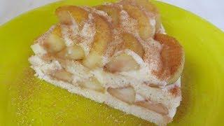 Яблочный ТОРТ Без ДУХОВКИ! Шарлотка по Старому РЕЦЕПТУ! Шедеврально вкусный Крем! Apple Cake.