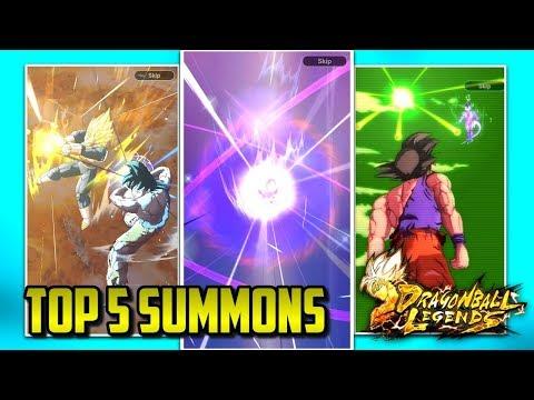 TOP 5 LUCKIEST DRAGON BALL LEGENDS SUMMONS! | Dragon Ball Legends List