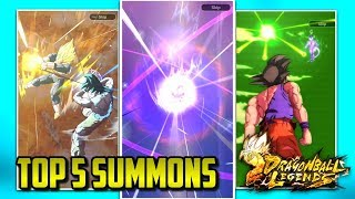 TOP 5 LUCKIEST DRAGON BALL LEGENDS SUMMONS! | Dragon Ball Legends List