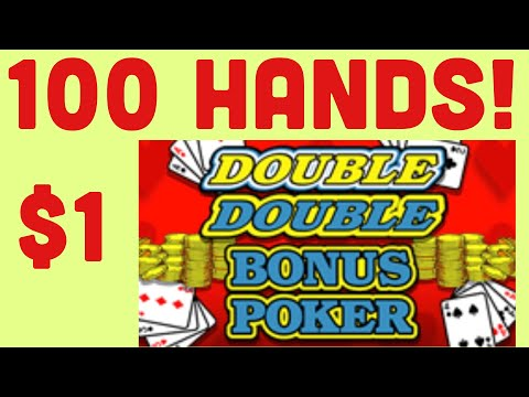 LIVE 1$ DOUBLE DOUBLE BONUS VIDEO POKER