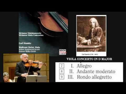 Carl Stamitz (Karel Stamic): Viola Concerto in D major, Wolfram Christ (viola)