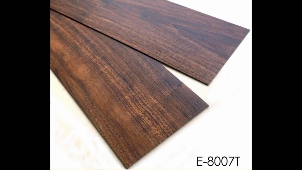 Gray Wood Pattern Resilient Glue Down Vinyl Plank Flooring Factory