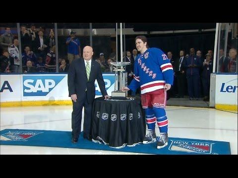 Rangers Ryan Mcdonagh Accepts Presidents Trophy