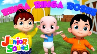 Ringa Ringa Roses | Nursery Rhymes Songs For Toddler | Kindergarten Song By Junior squad