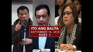 UNTV: Ito Ang Balita (September 18, 2018) PART 1