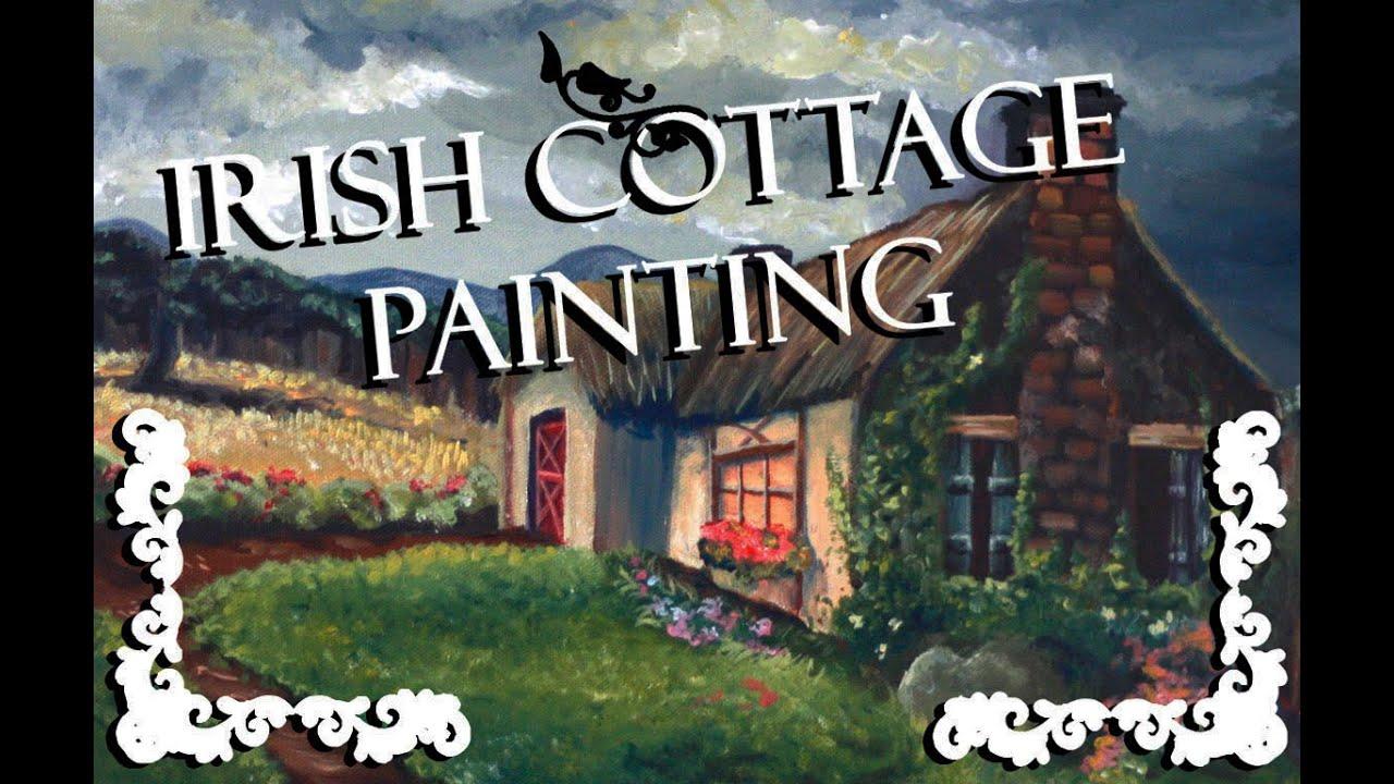 Irish Cottage Acrylic Painting