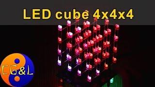 KIT набор светодиодный куб (LED cube) 4x4x4(Сегодня соберем KIT набор светодиодный куб или LED cube размером 4x4x4. Вещь, которая кажется довольно простой..., 2015-06-20T15:32:16.000Z)