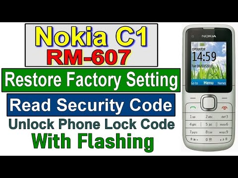 HOW TO RESET NOKIA C1 01 SECURITY CODE RESET AND FLASH BY GULZO