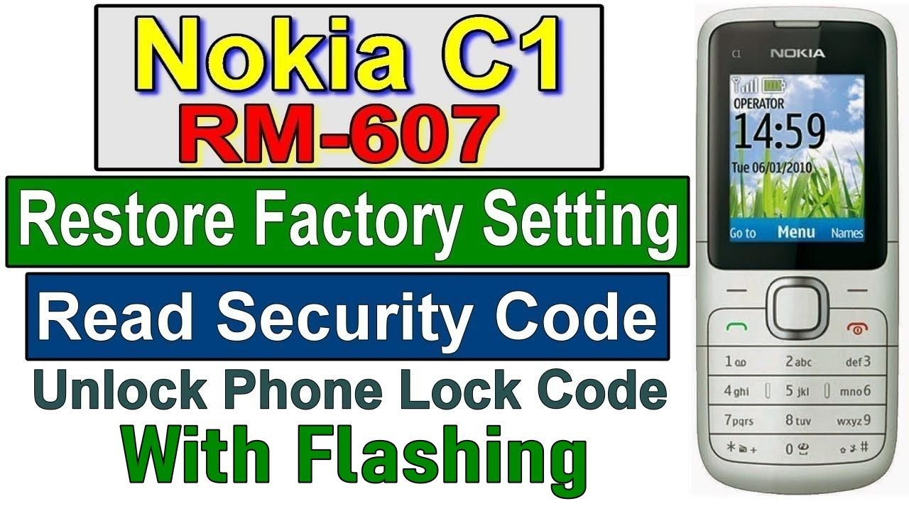 how to reset nokia 3110c without security code