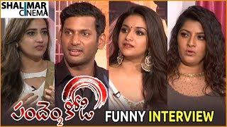 Pandem Kodi 2 Movie Team Funny Interview || Vishal, Keerthi Suresh || Shalimarcinema