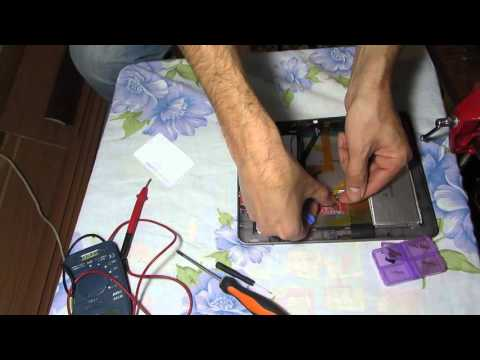 Разборка и ремонт планшета Texet TM-9748 3G. Disassembly And Repair Of The Tablet Texet TM-9748 3G