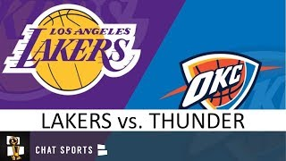 Lakers vs. Thunder Location, TV Network, Game Time, Preview, Stat Leaders, Rumors   11/22/19