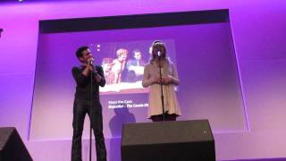 "Jarrod Spector and Anika Larsen singing ""He"