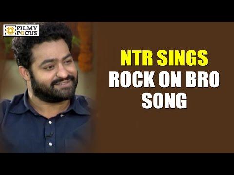 NTR Sings his Favourite Lyrics from Rock On Bro Song || Janatha Garage Movie - Filmyfocus