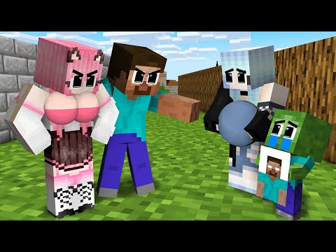 Monster School : Poor Baby Zombie but Braving with Little Sister - Sad Story - Minecraft Animation
