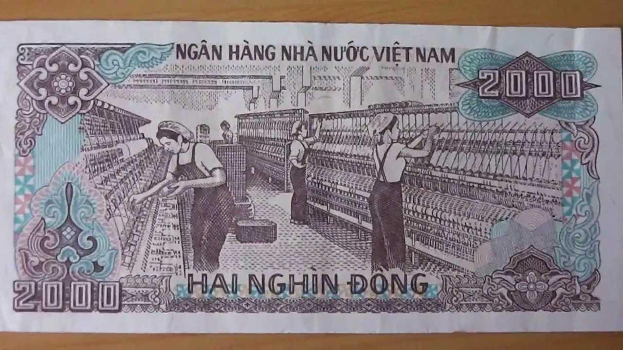 Banknote Aus Dem Vietnam 2 000 Hai Nghin Dong Von 1988