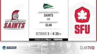 SFU Men's Soccer vs. SMU - October 3, 2019