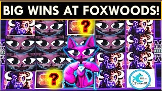 FOXWOODS FUN! BIG WIN BONUSES (over 100x!) on MISS KITTY &  BUFFALO SLOT MACHINES