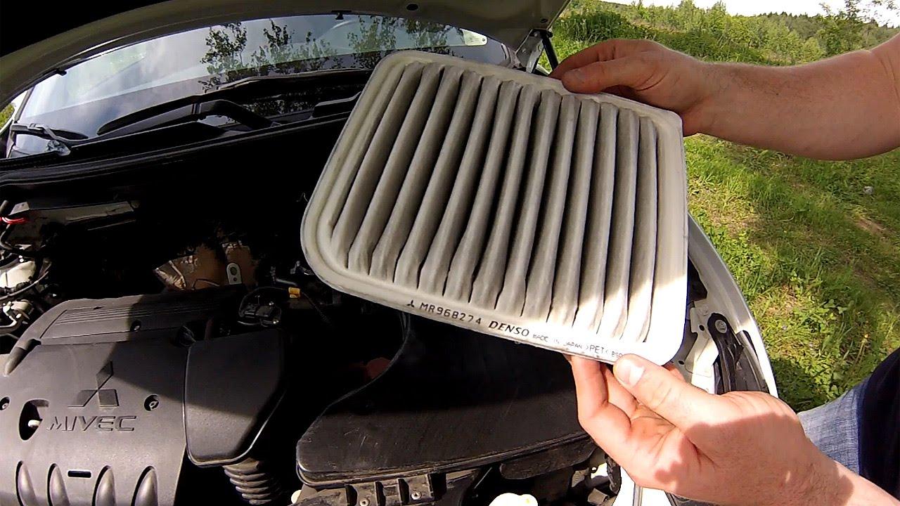 Замена воздушного фильтра митсубиси аутлендер xl Замена рычагов подвески fabia 2